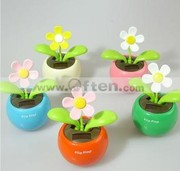 Cute Flip Flap  Solar Flower Funny Toy Solar Gift