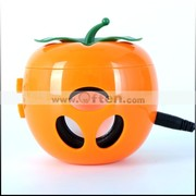 Free Shipping:Lovely Pocket Apple Shaped Stereo Speaker