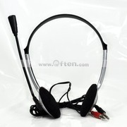 Free Shipping:PC Computer Headset/Headphone Micro for MSN Skype