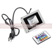 Free shipping:Waterproof Remote Control 10W RGB LED Flood Lights 900LM