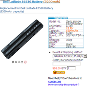Dell Latitude E6520 batteries