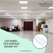 Install 2X4 LED Panel Surface Mount Kit For Easy Installing