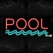 Pool With Wave Border Neon Sign